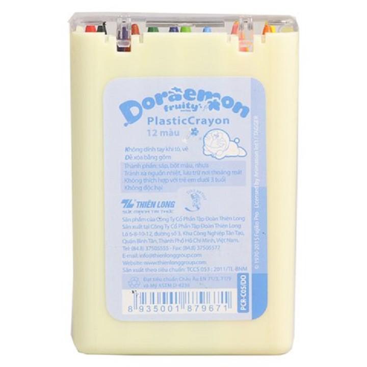 Bút Sáp Nhựa 12 Màu Doraemon Colokit PCR-C05/DO