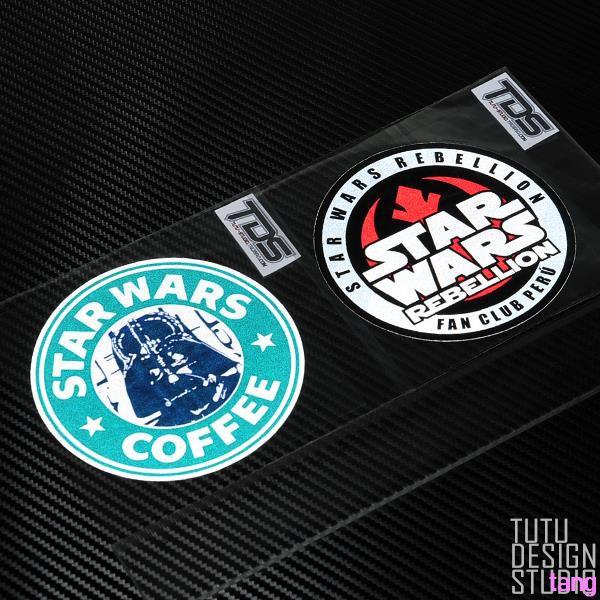Star Wars round STARWARS 2 models into the car locomotive safety reflective stic