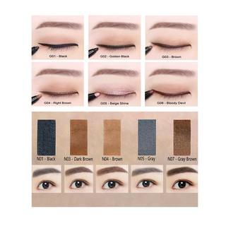 COMBO chì kẻ mắt và chì kẻ mày Hàn Quốc Kbox1998 chống nước không trôi giữ màu hoàn hảo thumbnail