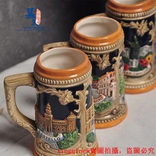 Cốc Uống Bia Bằng Gốm Phong Cách Châu Âu