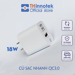 Củ sạc nhanh Iphone 12 Đầy pin trong 2 tiếng 15 phút Sạc nhanh chuẩn QC3.0 18W hãng THinnotek thumbnail