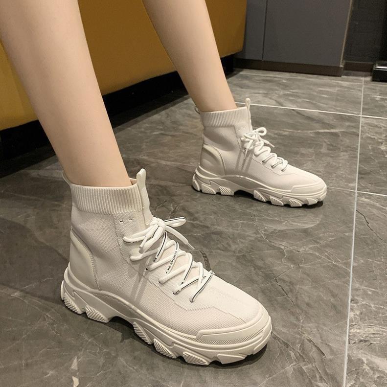 Giày bốt nữ thời trang cổ lửng da mềm độn đế 5 cm, giày boots thời trang hot trend 2020 phong cách Hàn Quốc [HÀNG SẮN]