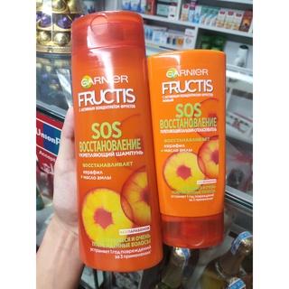 Bộ dầu gội và dầu xả Garnier Fructis SOS dành cho tóc hư tổn nặng