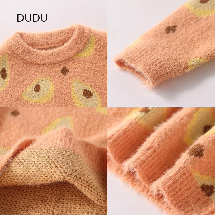 เสื้อผ้า   ฤดูใบไม้ร่วงและฤดูหนาวใหม่เสื้อกันหนาว   อ่อนโยน   เสื้อกันหนาวที่มีคุณภาพสูง  หวาน   เสื้อกันหนาว   ใหม่