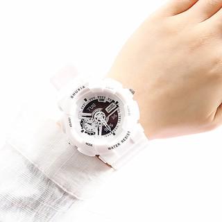 Đồng hồ thời trang nam nữ Shuxia S20 kiểu dáng thể thao, chạy kim, giả điện tử cực hot