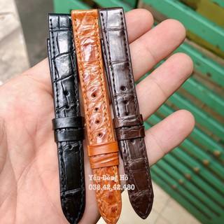Dây Đồng Hồ Da Cá Sấu 100% Handmade Cao Cấp - Thay Cho Đồng Hồ Nữ