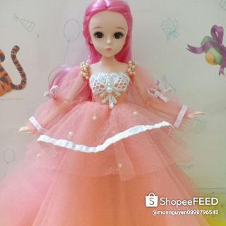 Đầm hồng công chúa búp bê barbie
