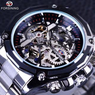 Đồng hồ cơ nam Forsining 1030 lộ máy dây kim loại thumbnail