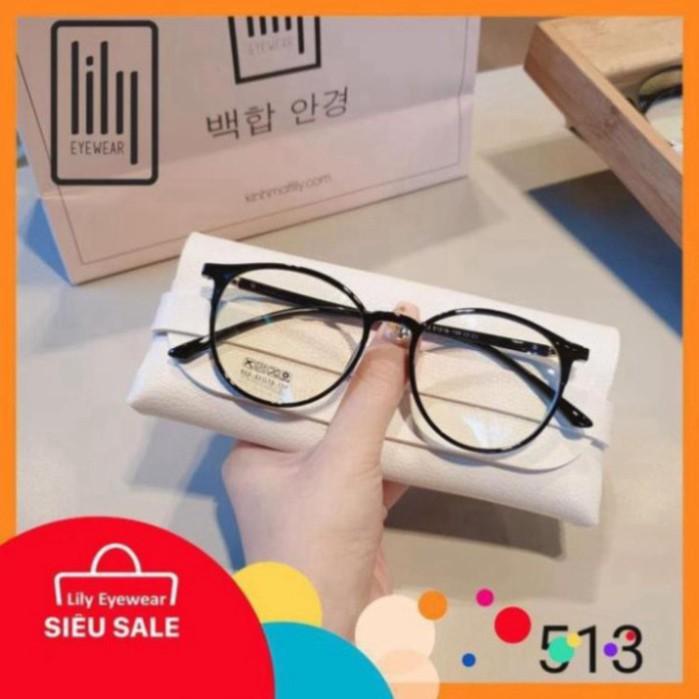 HaDuyXYZ- Gọng kính mắt nhựa dẻo thanh mảnh mắt tròn màu sắc thời trang Lilyeyewear 513