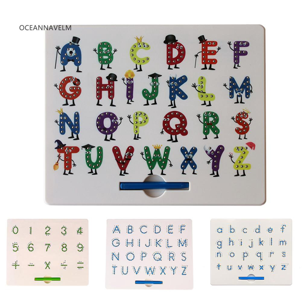 ♧OA Magnetic Beads Drawing Board Mathematics Number Alphabet Educational Kids Toy