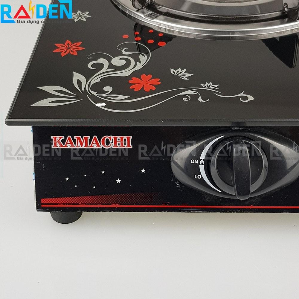Bếp ga đơn mặt kính cường lực Kamachi KM-012 dùng bình ga lớn