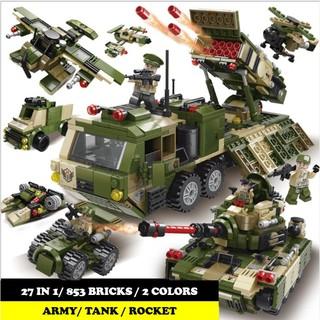 Bộ lắp ráp khu quân sự 27in1 Lele Brother 8563 (853 chi tiết)