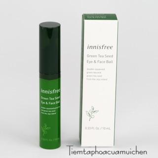 [Cam kết chính hãng] Bút Dưỡng Và Massage Vùng Da Mắt, Giúp Ngăn Ngừa Nếp Nhăn Innisfree Green Eye Face