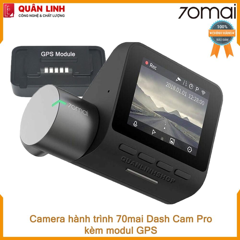 Bộ Camera hành trình Xiaomi 70mai Dash Camera Pro kèm Module GPS - phiên bản nội địa up sang Tiếng Anh