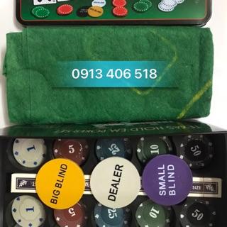 Bộ phỉnh poker texas holdem 200 chip loại có số, mang cả lasvegas vào phòng