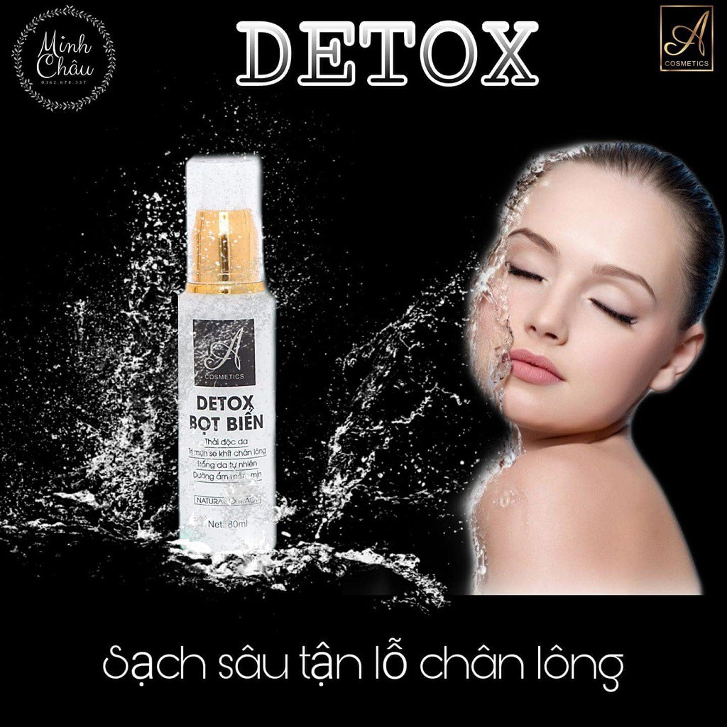 Detox Bọt Biển❤️ Chính Hãng❤️  Thải Độc Da ACOSMETICS, trị mụn, se khít lỗ chân lông, Giúp da trắng sáng hồng tự n