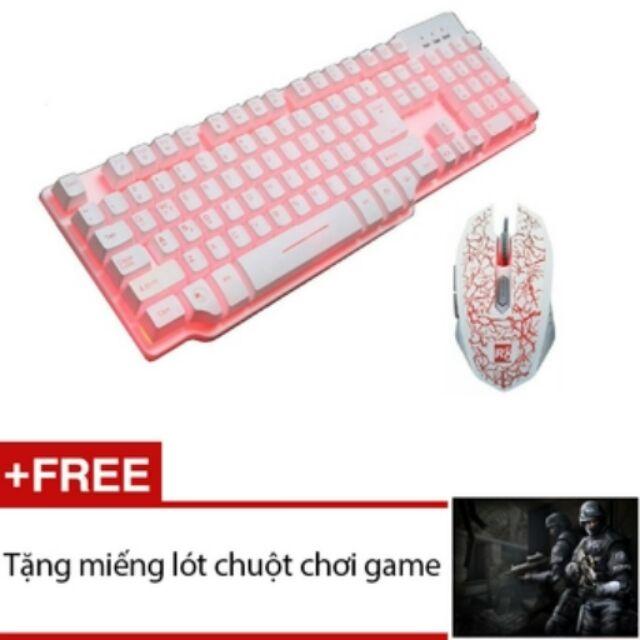 Bộ bàn phím giả cơ và chuột Led chuyên Game R8 1815 - 1603 (Trắng) + Tặng 1 miếng lót chuột chơi gam - 2579650 , 58974079 , 322_58974079 , 505000 , Bo-ban-phim-gia-co-va-chuot-Led-chuyen-Game-R8-1815-1603-Trang-Tang-1-mieng-lot-chuot-choi-gam-322_58974079 , shopee.vn , Bộ bàn phím giả cơ và chuột Led chuyên Game R8 1815 - 1603 (Trắng) + Tặng 1 miếng l
