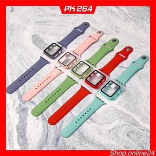 Com bo Dây kèm Ốp cao su apple watch 38 40 42 44 thumbnail