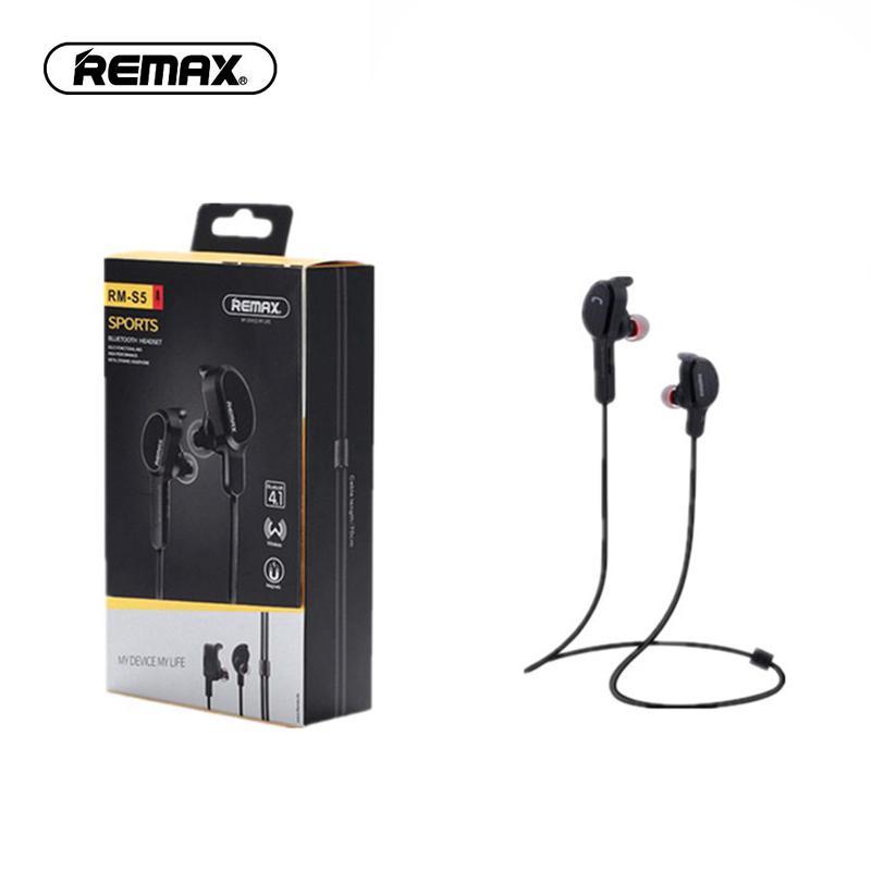 Tai nghe thể thao Remax kết nối Bluetooth 4.1 có nam châm màu đen trắng