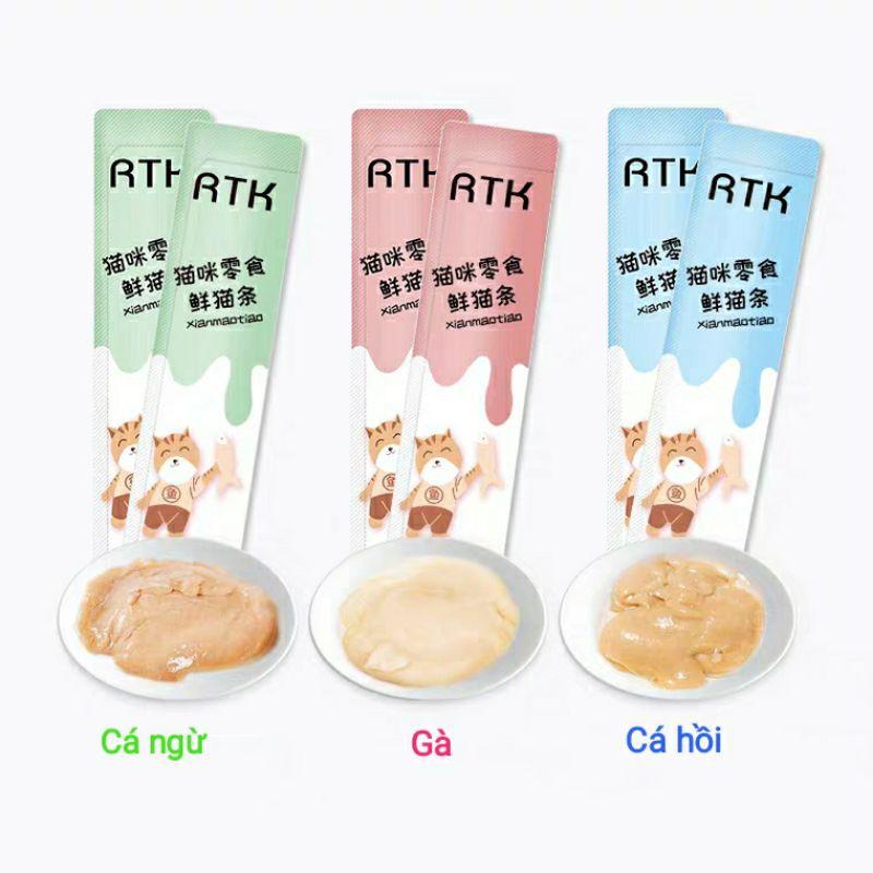 (Sẵn) Súp thưởng RTK set 30 gói mix vị cho Mèo xinh