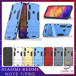 Ốp lưng Xiaomi Redmi Note 7 Pro, Ốp iron man chống sốc kèm chống xem video tiện lợi cho Redmi Note 7