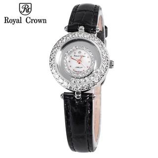 Đồng hồ nữ Chính Hãng Royal Crown Italy 5308 dây da đen thumbnail