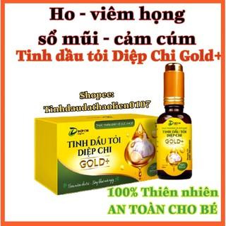 Tinh dầu tỏi Diệp Chi Gold + đánh bay ho, viêm họng, sổ mũi, cảm cúm, tăng đề kháng hàng ngày thumbnail