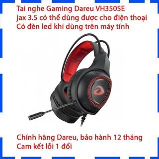 Tai nghe chụp tai DareU VH350SE jack 3.5/Âm Thanh Sống Động/Có đèn led/Dùng được cho điện thoại/Bảo hành 12 tháng