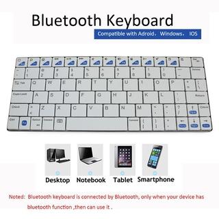 Bàn Phím Bluetooth Không Dây Có Thể Sạc Lại Cho Pc Laptop Điện Thoại thumbnail