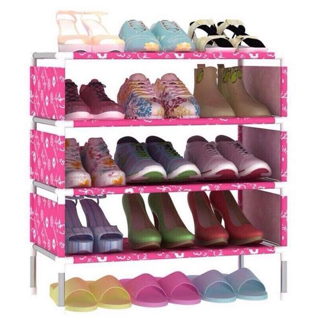 Kệ để giày dép 4 tầng thông minh họa tiết đáng yêu