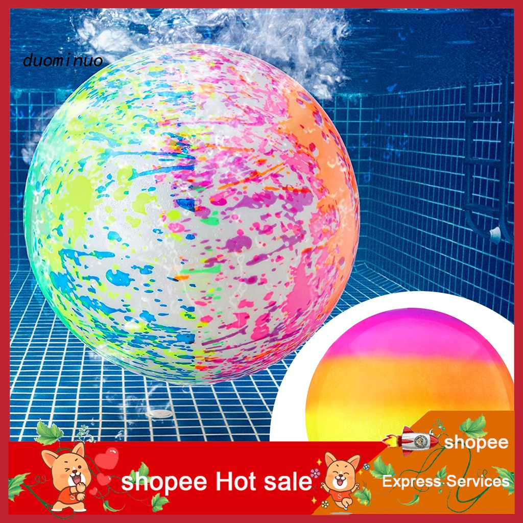 dmm Diving Ball Interactive Colorful Smooth Surface Rainbow Underwater Ball Toy for Game