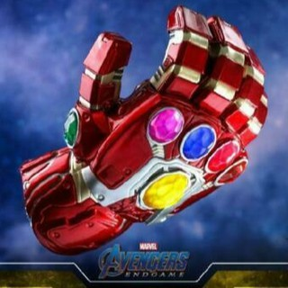 Hot Toys Cosbaby LED Iron Man Nano Infinity Gauntlet Avengers Endgame COSB572