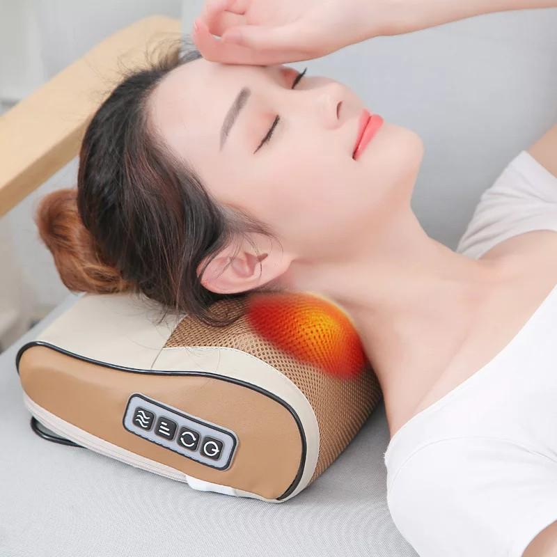 Gối massage hồng ngoại cổ vai gáy lưng D331 ( hàng nhập khẩu )