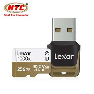 Thẻ nhớ microSDXC Lexar Professional 256GB 1000x UHS-II U3 V60 Read 150MB/s / Write 90MB/s (Đen) - Kèm reader 3.0