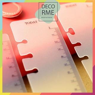 Thước nhựa phụ kiện sổ còng, sổ planner, bullet journal, DECORME thumbnail