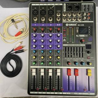 [HOT]Mixer M4 Kiêm Cục Đẩy Và Trộn Âm Thanh Hát Karaoke Gia Đình-Thu Âm livestream cực hay
