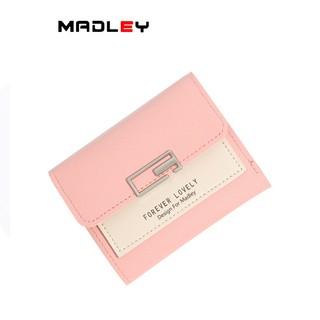Hình ảnh Ví nữ thời trang ngắn cầm tay mini đẹp MADLEY cao cấp nhiều ngăn nhỏ gọn bỏ túi VD220-0