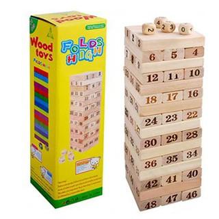 [FLOW SHOP để nhận ưu đãi lớn] Bộ trò chơi rút gỗ WOOD TOYS (loại lớn)KA002-2785