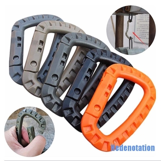 [Hedenotation 0129] 5pcs Mountaineering Buckle Snap Clip Plastic Hook Climbing Carabiner D Shape
