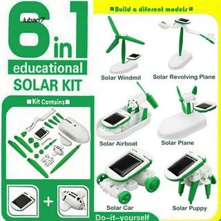 Rô bốt đồ chơi 6 trong 1 sử dụng năng lượng mặt trời có nhiều kiểu dáng khác nhau thumbnail