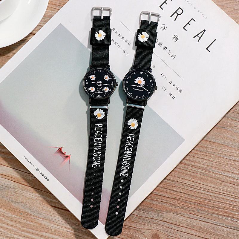 Đồng hồ nam nữ đeo tay dây dù hoa cúc đẹp DH105