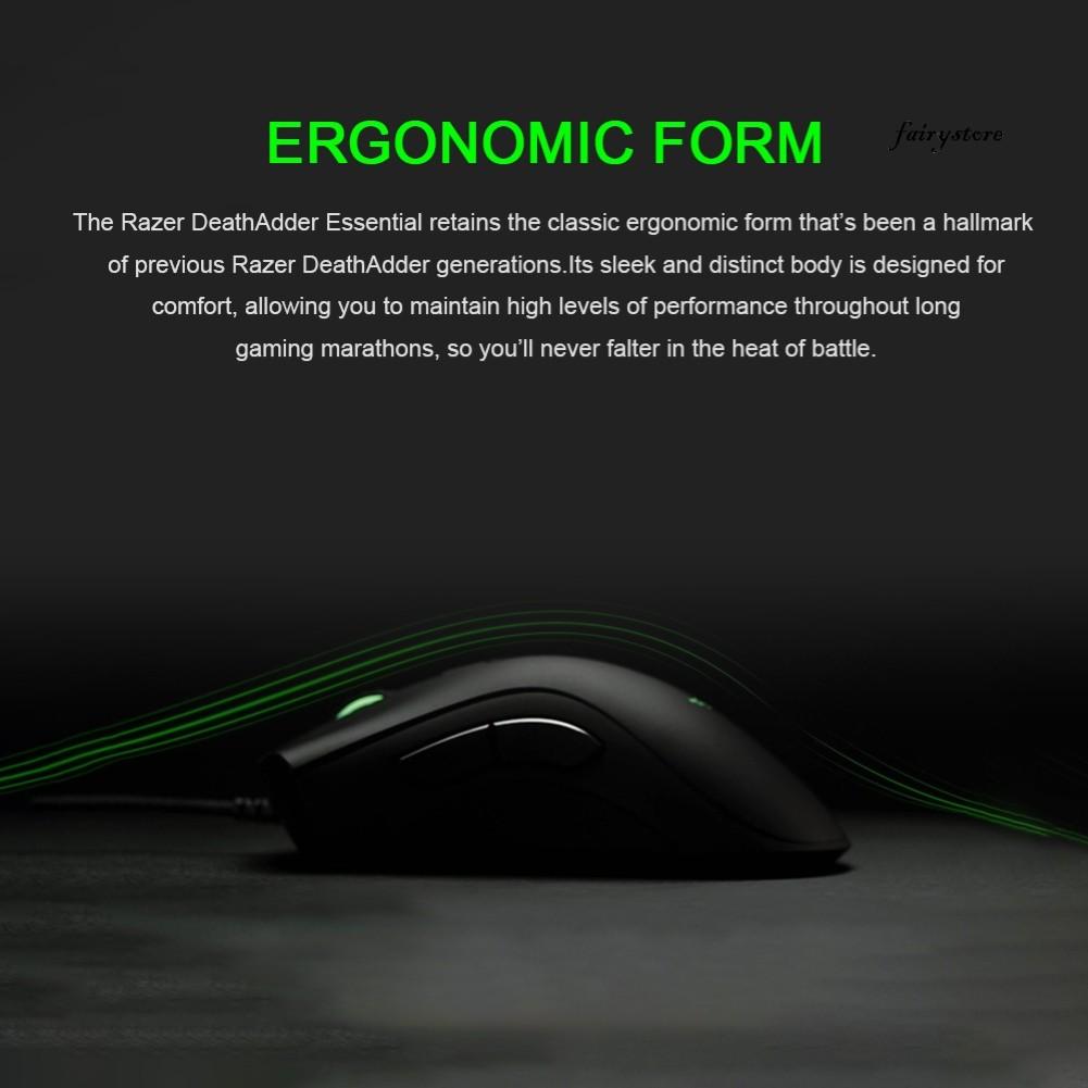 Chuột Chơi Game Có Dây Fs + 6400 Dpi 5 Nút Bấm Cho Laptop / Pc