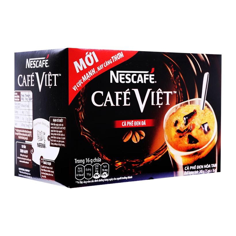 Cafe Việt đen đá Nescafe hộp 280g