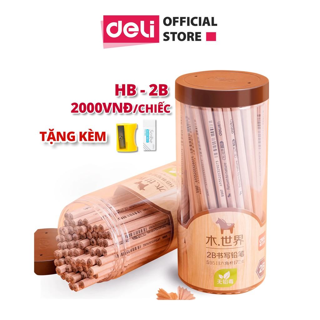 Bút chì lục giác/tam giác Deli - loại HB/2B - 30 chiếc/hộp - S941 / S943