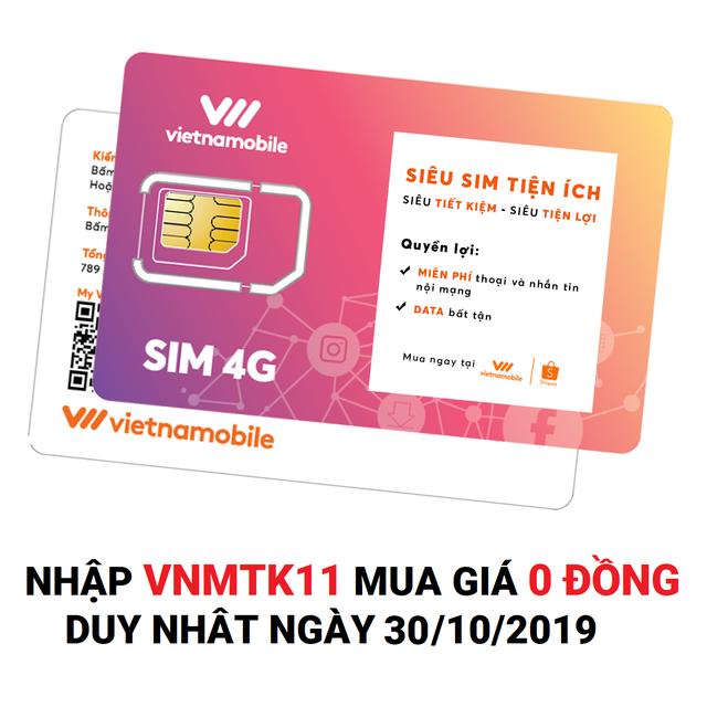 Hình ảnh [Mã VNMTK11 Mua Giá 0Đ] Siêu Sim Tiện Ích Miễn phí Data Gọi & SMS nội mạng - Duy trì chỉ 20k/tháng - Vietnamobil-0