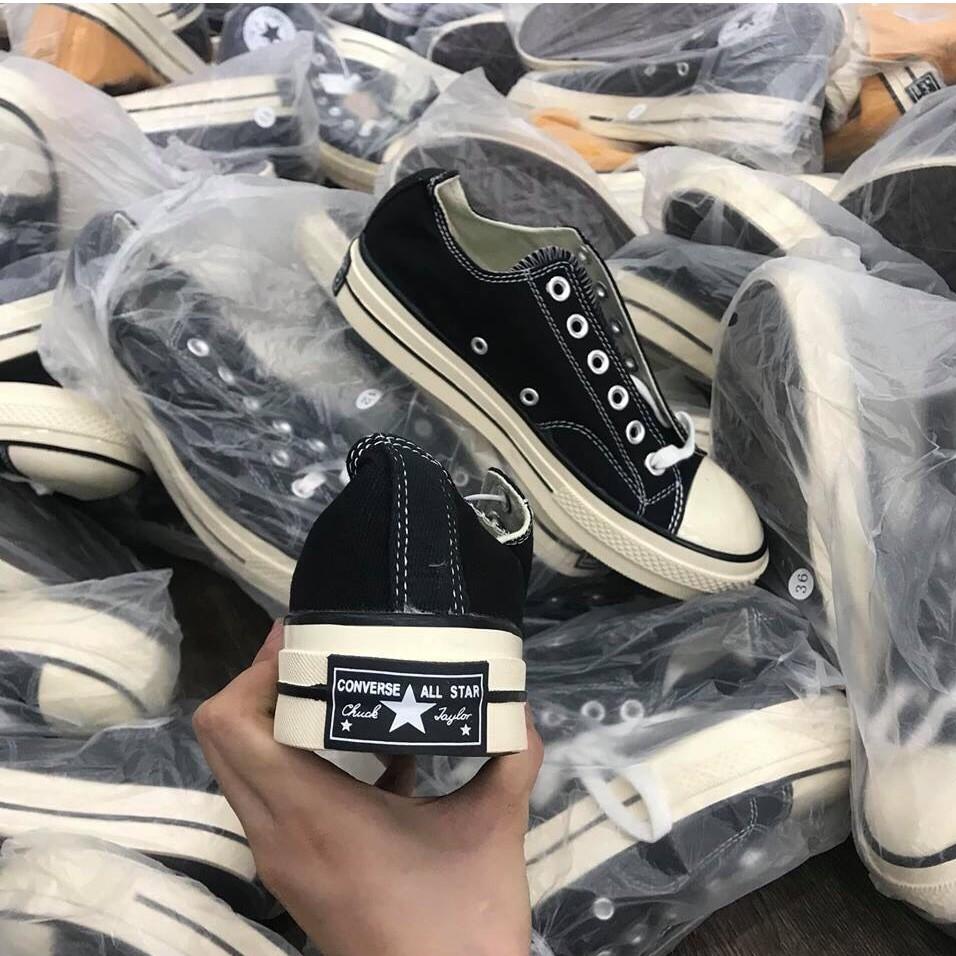 Giày Thể Thao Converse Thấp Cổ Đen Mũi Giày Bóng REP + Fullbox