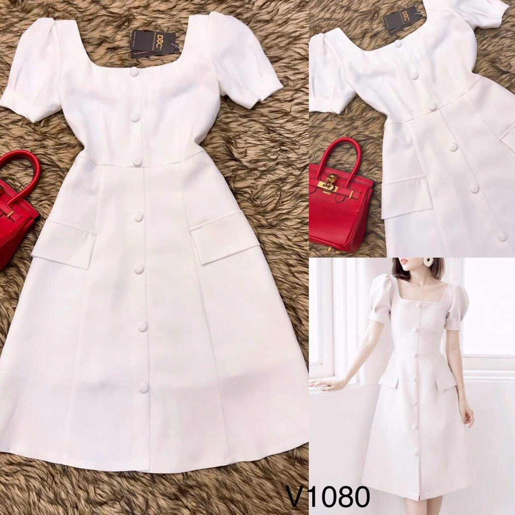Váy xòe V1080 - Chi_Boutique (Kèm Ảnh Thật Trải Sàn Do Shop Tự Chụp)