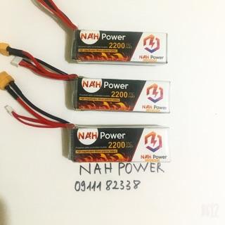 Pin Lipo NAH Power 2200mAh 35C dành cho máy bay cánh bằng, tàu xe RC