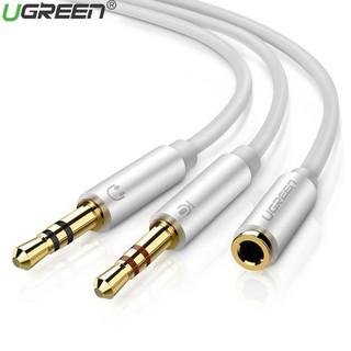 [Mã ELFLASH5 giảm 20K đơn 50K] Cáp gộp 2 chân 1 Mic 1 loa ra 1 cổng âm Audio 3.5mm Ugreen 10790 mạ vàng cao cấp