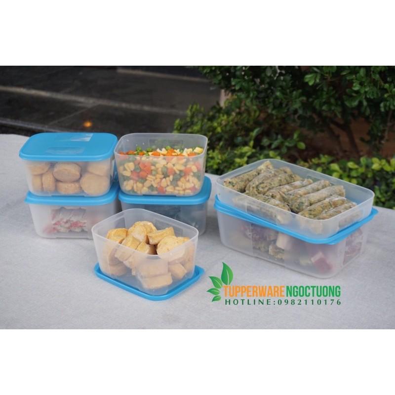 Tupperware - Bộ 7 hộp đông freezermate fit set 7 hộp
